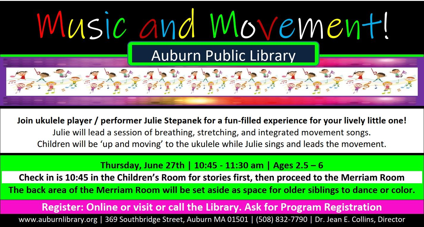 Music and Movement event at the Auburn Public Library