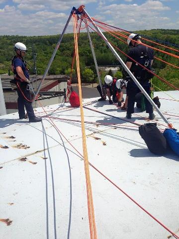 Technical training on rooftop